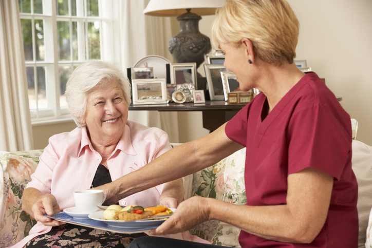 Plan meals ahead to ensure that elderly clients get variety in their diet