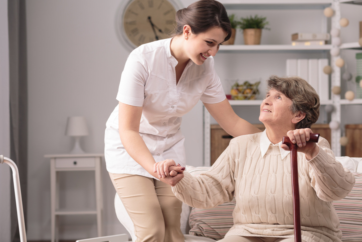 Occupational therapy assistants use their knowledge of gerontology to work in nursing homes